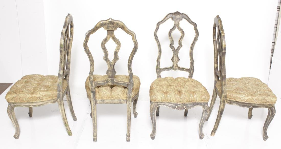 Four Venetian Style Dining Chairs - 6