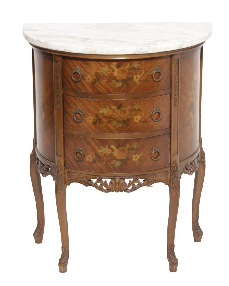 Louis XV style Diminutive Marquetry Commode