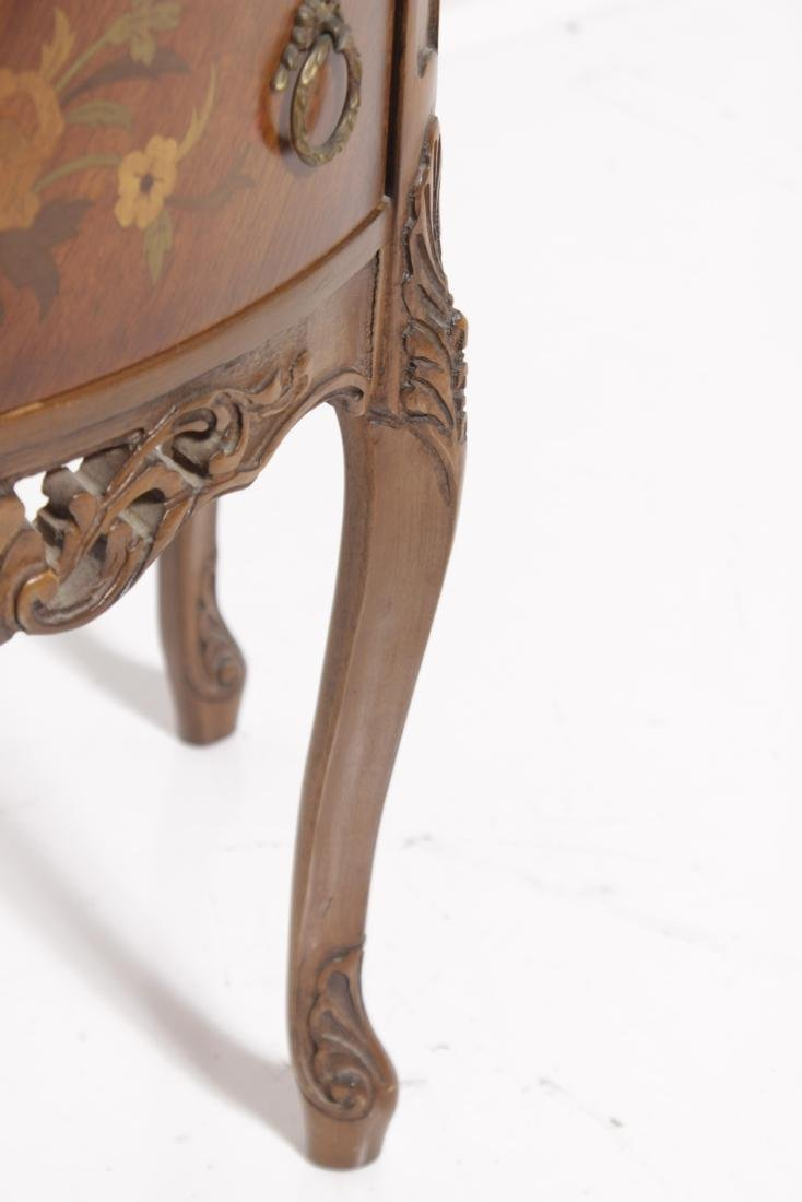 Louis XV style Diminutive Marquetry Commode - 4