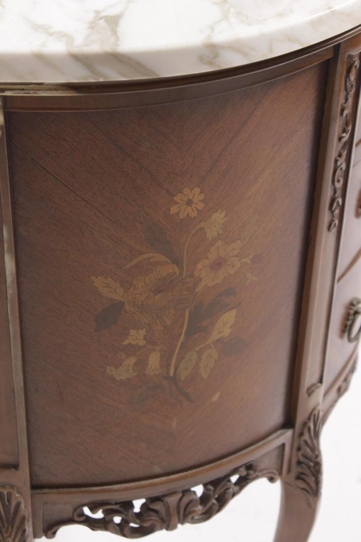 Louis XV style Diminutive Marquetry Commode - 7