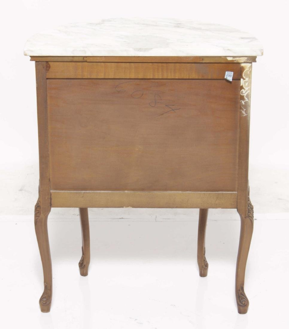 Louis XV style Diminutive Marquetry Commode - 8