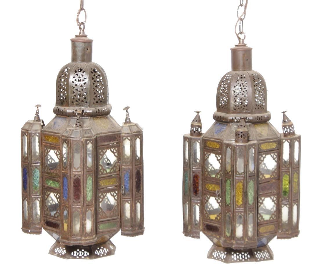 Pair of Moroccan Hanging lanterns