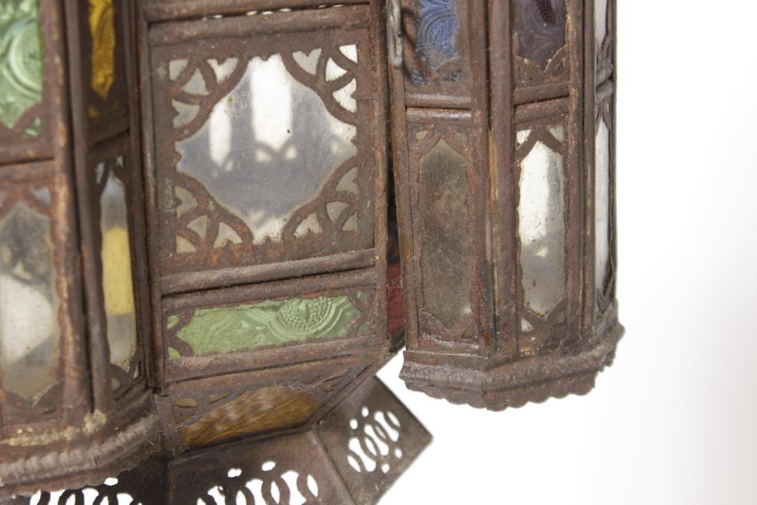 Pair of Moroccan Hanging lanterns - 5