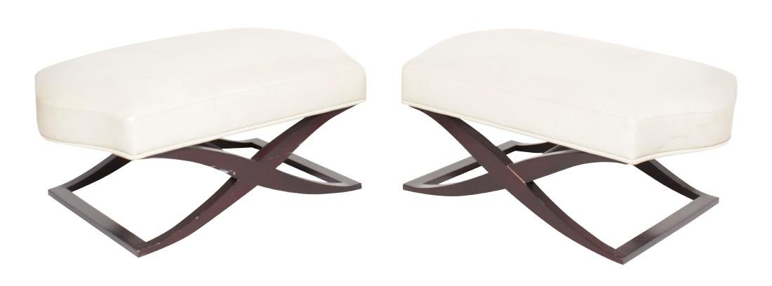 Pair DONGHIA Ottomans