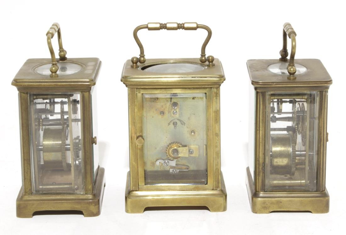 Three Brass Carriage Clocks - 7