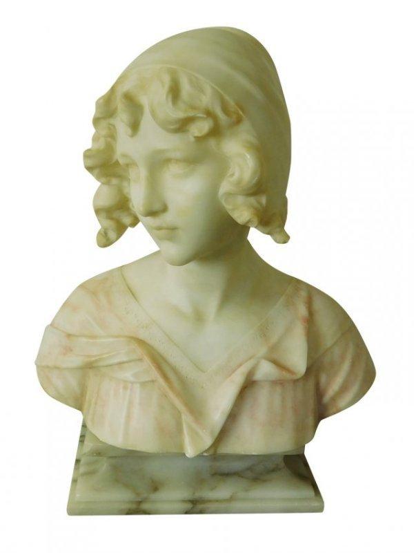 Alabaster Bust  of a Maiden