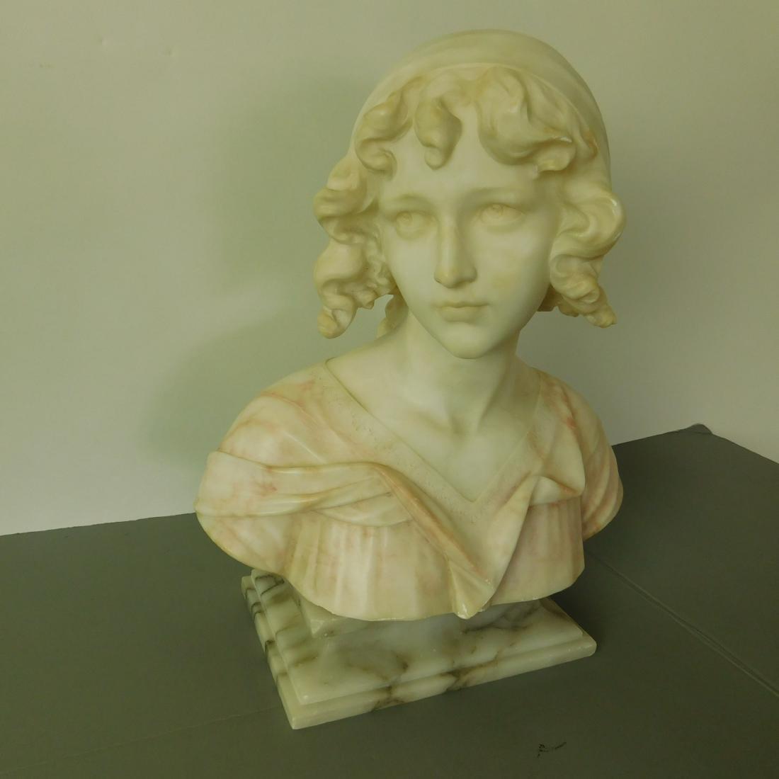 Alabaster Bust  of a Maiden - 4