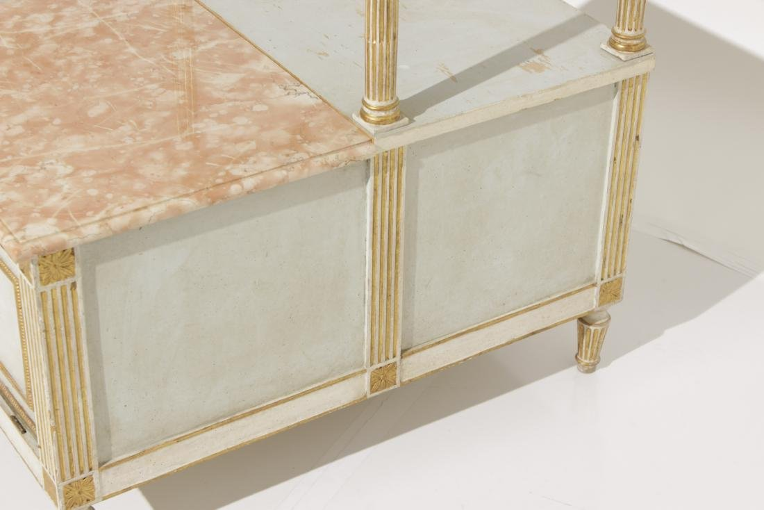 Two Louis XVI Style Painted Step Tables - 10