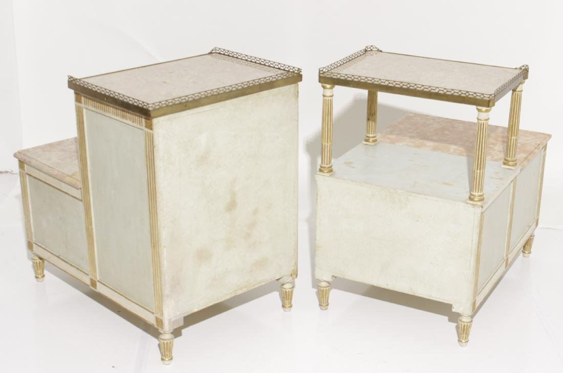 Two Louis XVI Style Painted Step Tables - 11