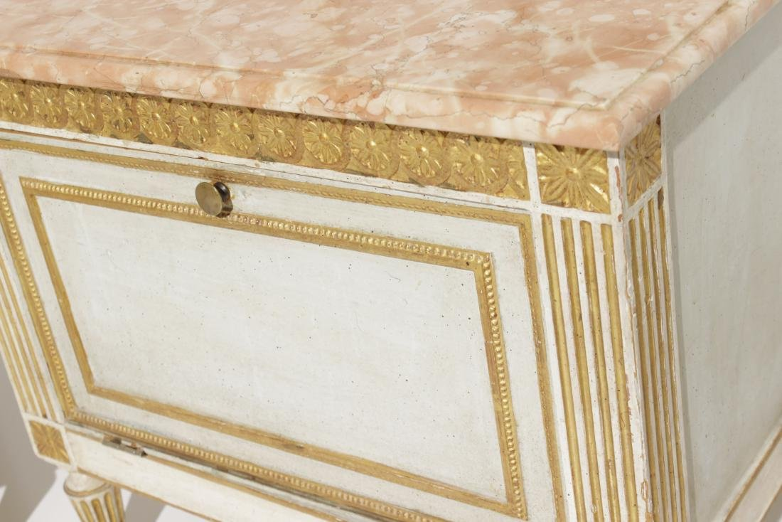 Two Louis XVI Style Painted Step Tables - 3