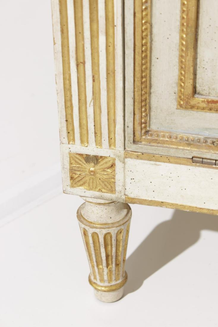 Two Louis XVI Style Painted Step Tables - 4