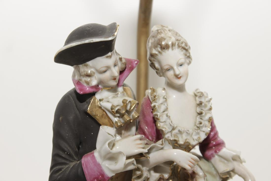 Pair of Porcelain Figural Lamps - 2