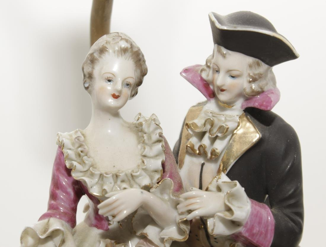 Pair of Porcelain Figural Lamps - 3