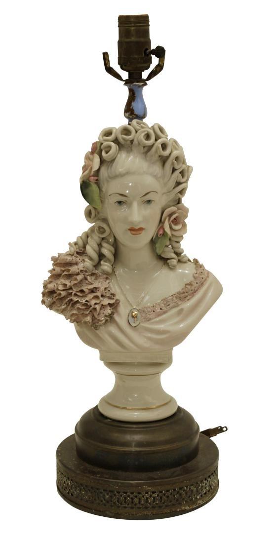 Porcelain Bust Lamp