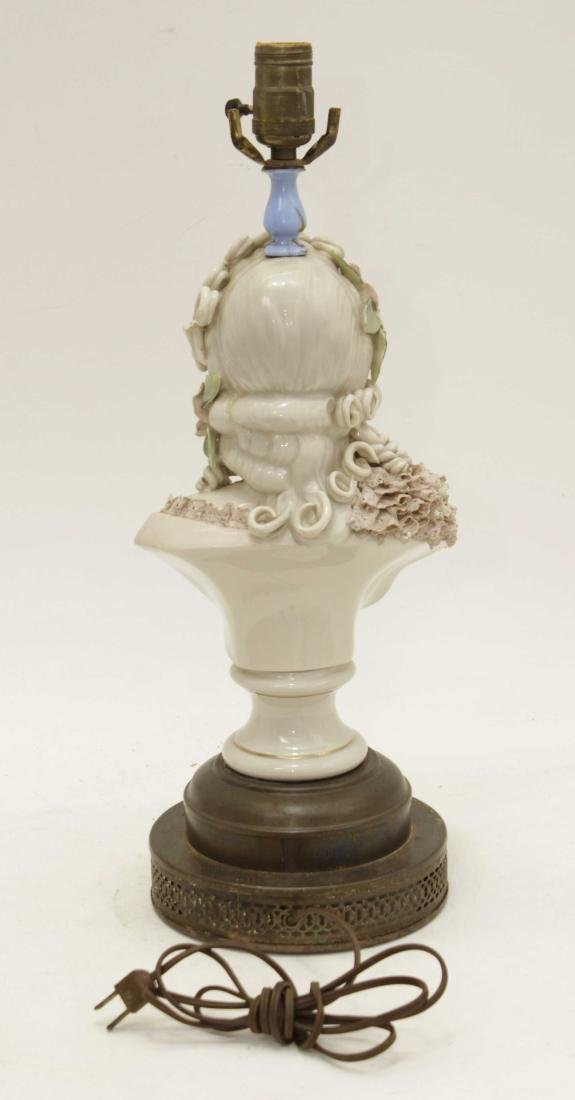 Porcelain Bust Lamp - 6
