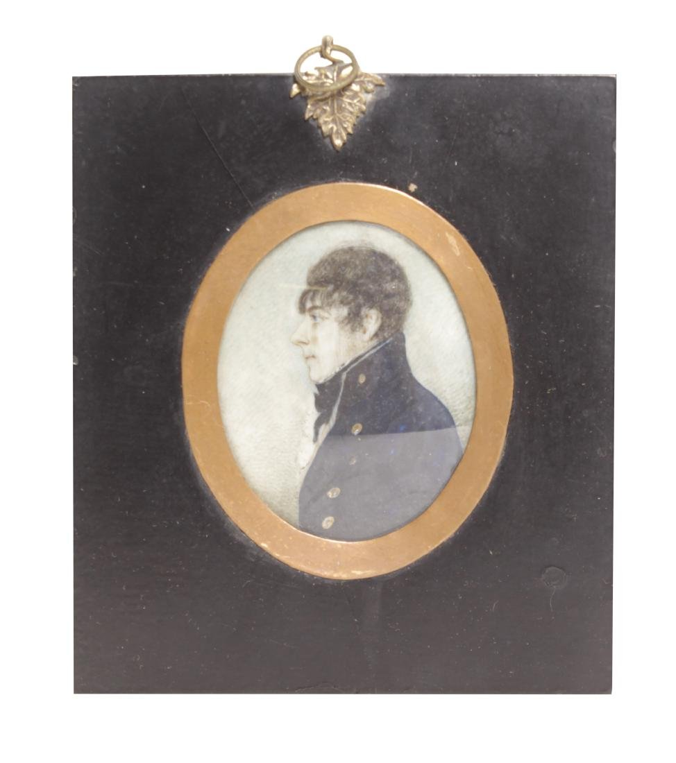18th C. Miniature Painting Of a Naval Officer