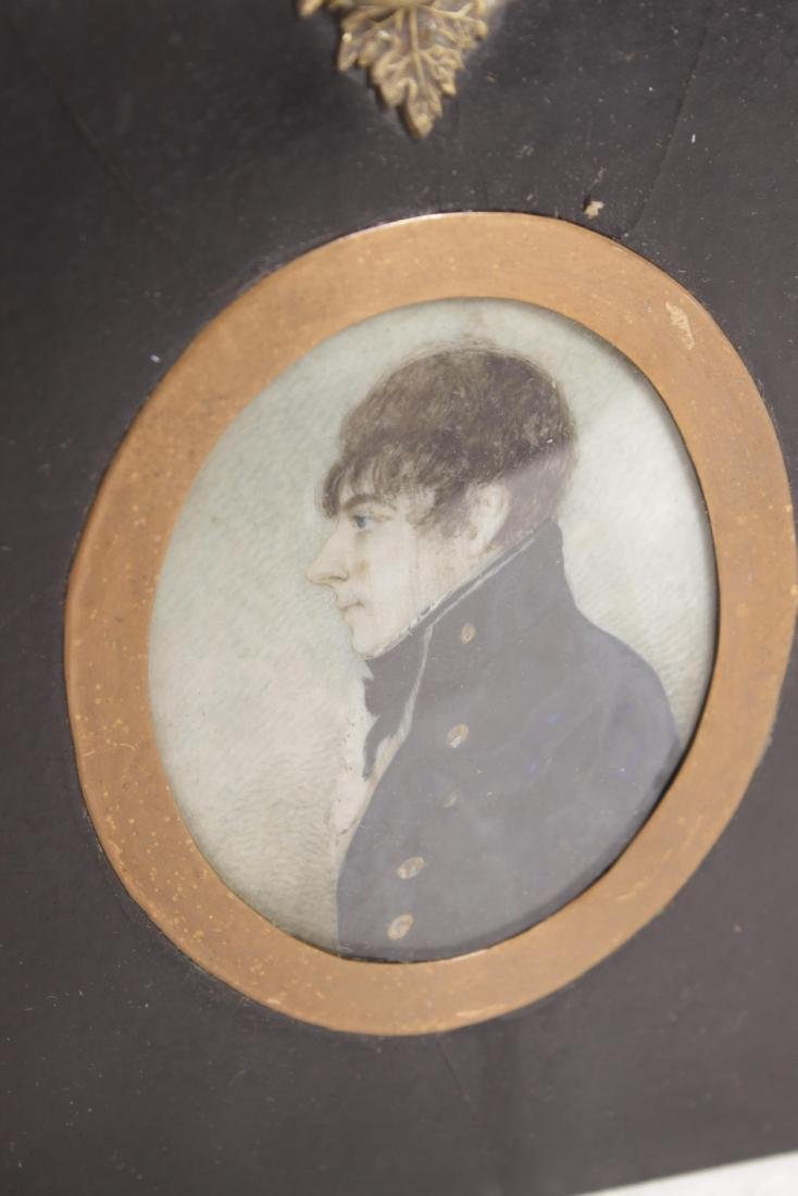 18th C. Miniature Painting Of a Naval Officer - 2