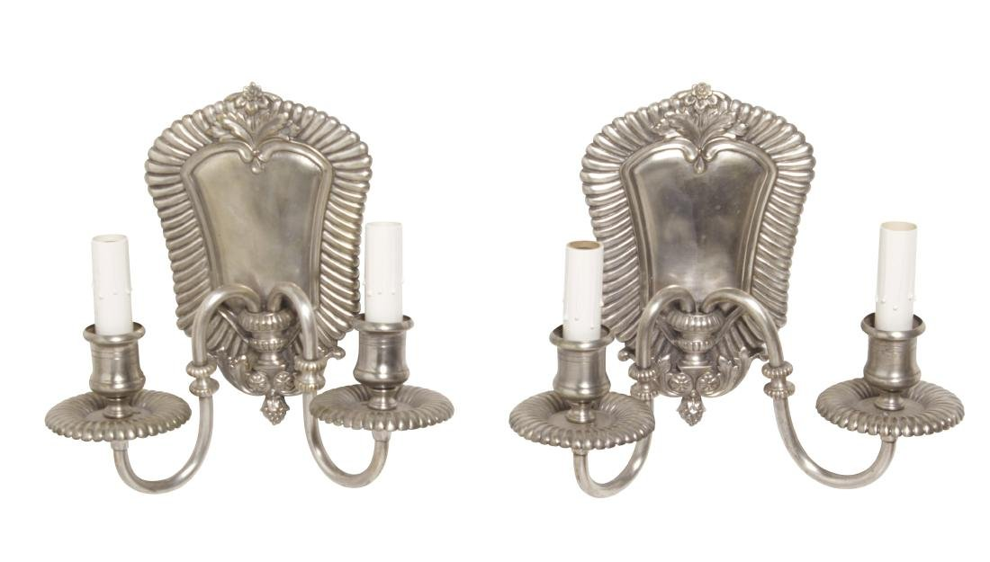 Pair of Silver Bronze Scones