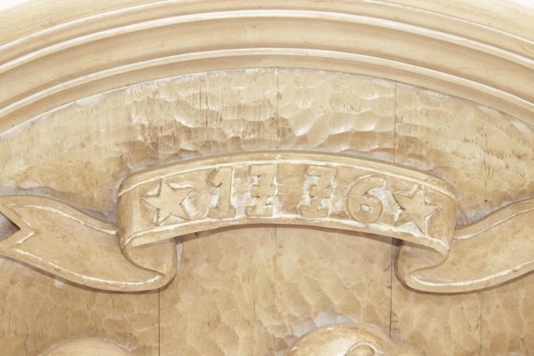 Carved Wooden Eagle Panel - 2