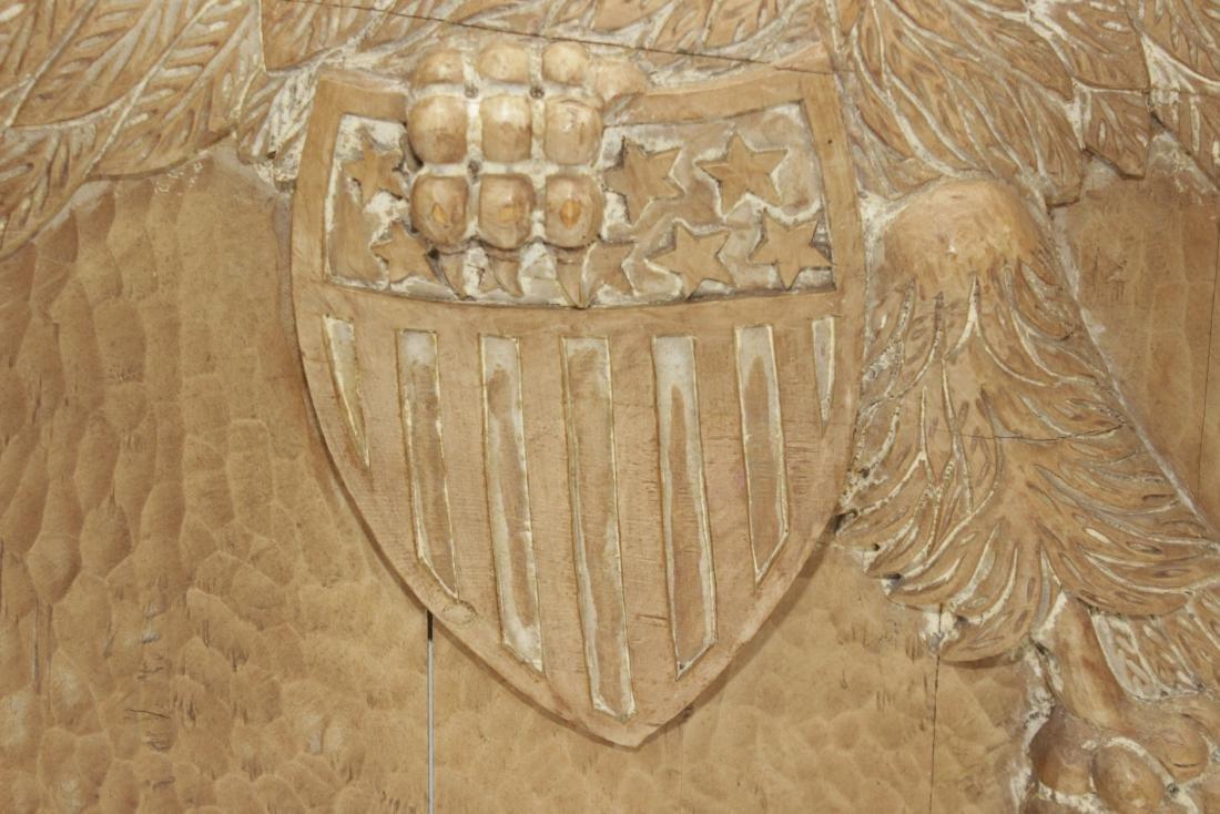 Carved Wooden Eagle Panel - 4