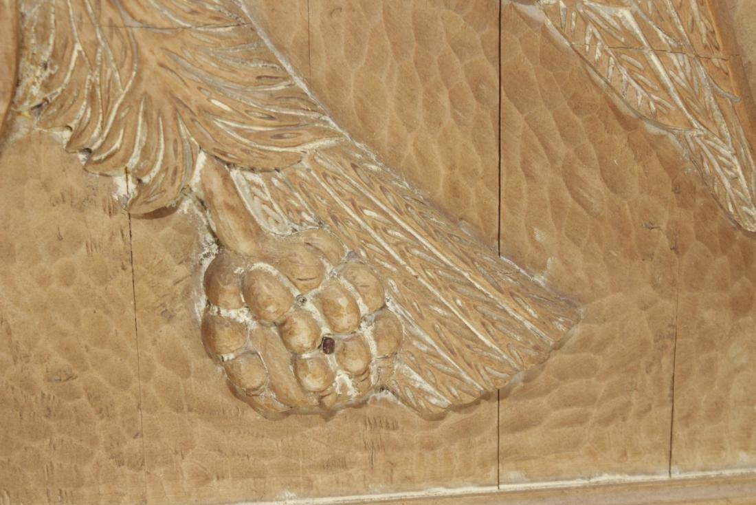 Carved Wooden Eagle Panel - 5