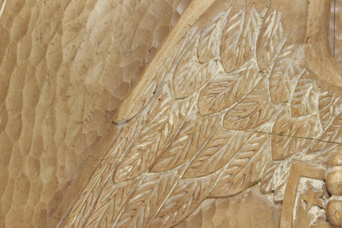 Carved Wooden Eagle Panel - 6
