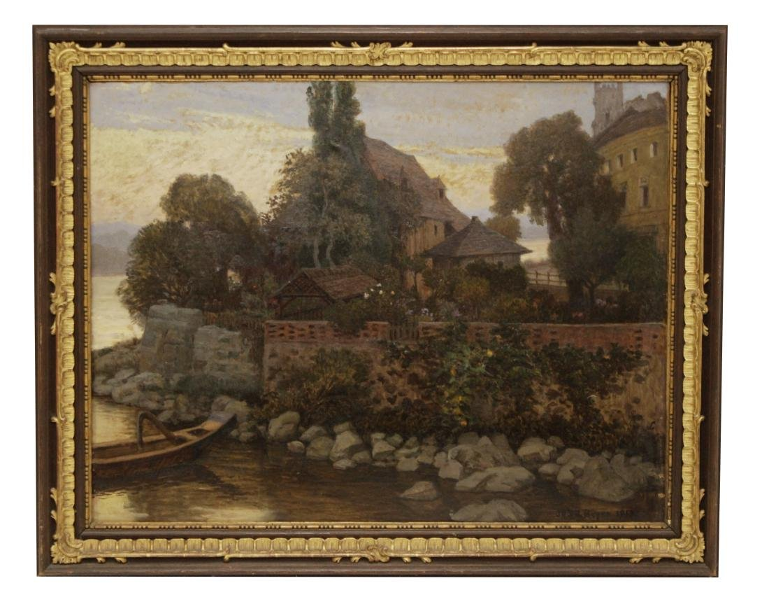Beyer, (?)  'Landscape with Castle', 1915