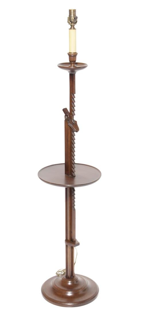English Walnut Ratchet Lamp