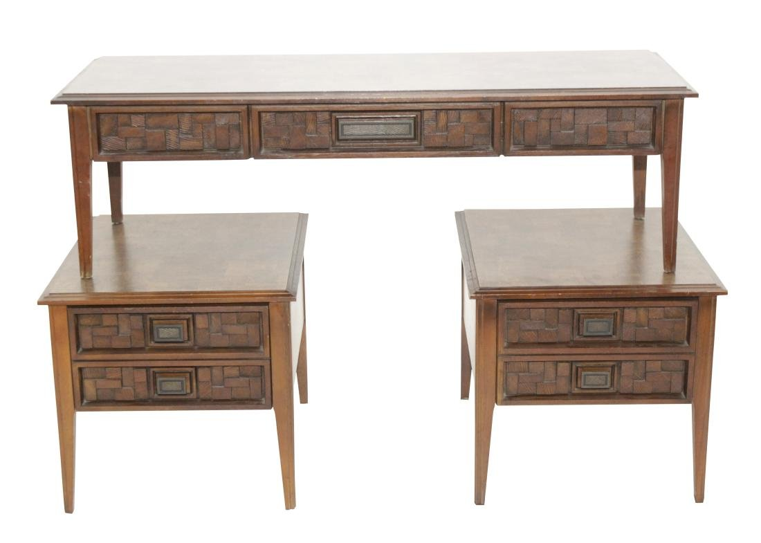 'Brutalist' Set Paul Evans Inspired Tables