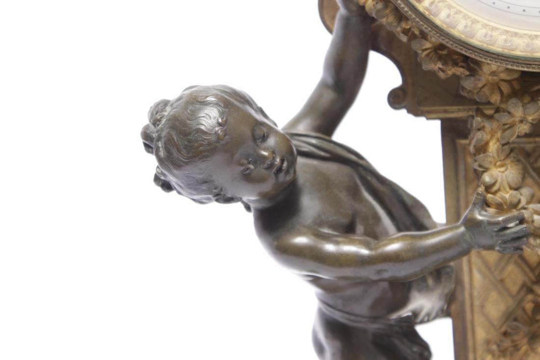 Louis XVI Style Bronze Clock - 3
