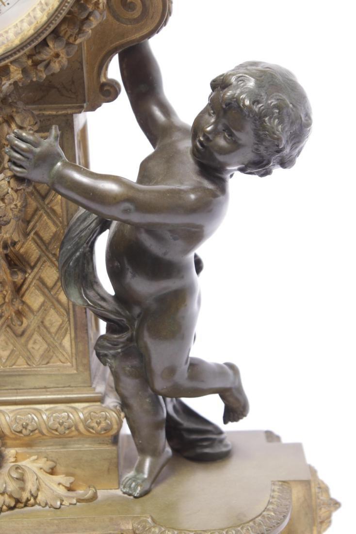 Louis XVI Style Bronze Clock - 4