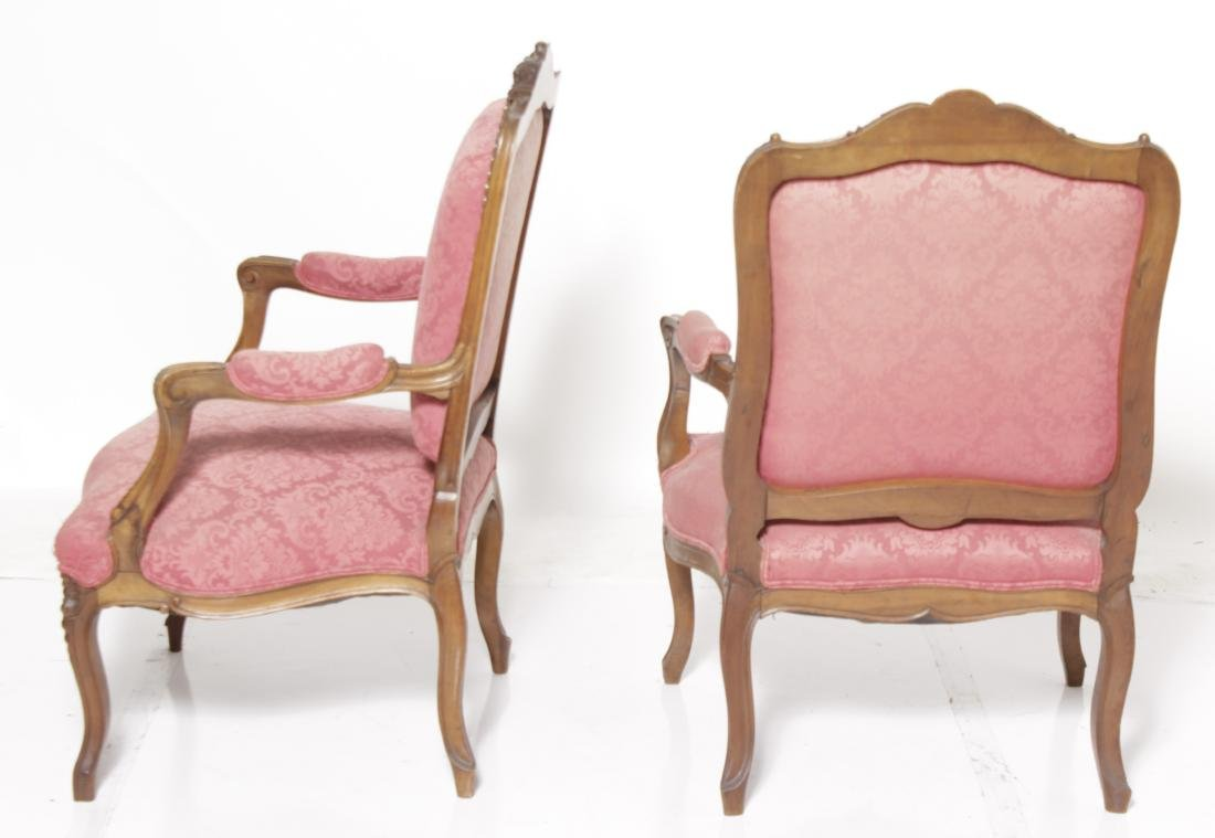 Pair of Louis XV Style Fauteuils - 7