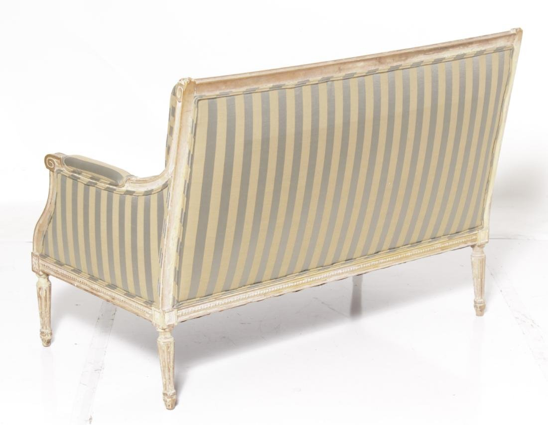 Louis XVI Painted Settee - 7