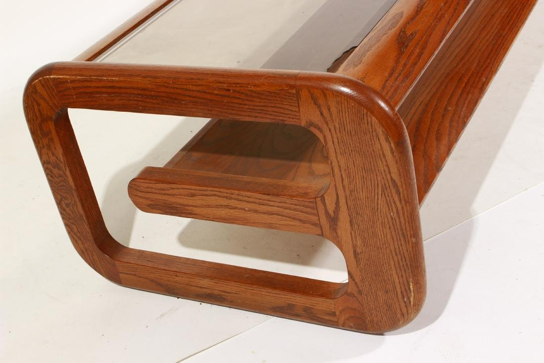 70's Oak Coffee Table, attr Lou Hodges - 3