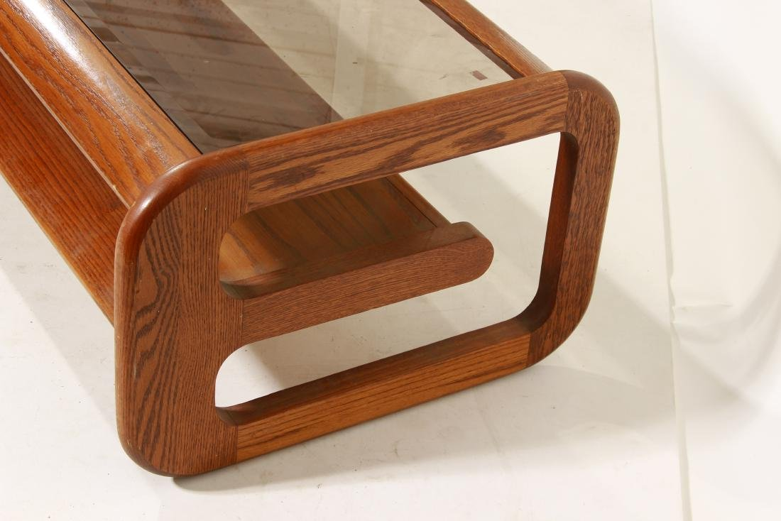 70's Oak Coffee Table, attr Lou Hodges - 5
