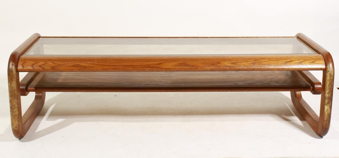 70's Oak Coffee Table, attr Lou Hodges - 6
