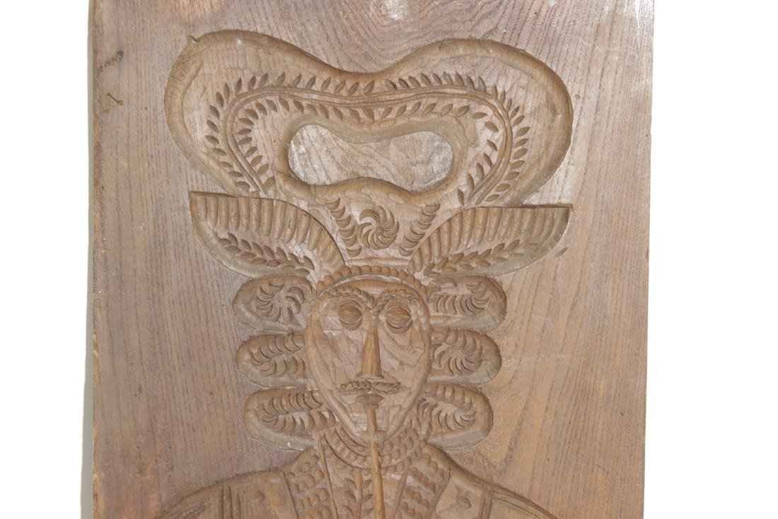 Carved Wooden Folk Plaque - 2