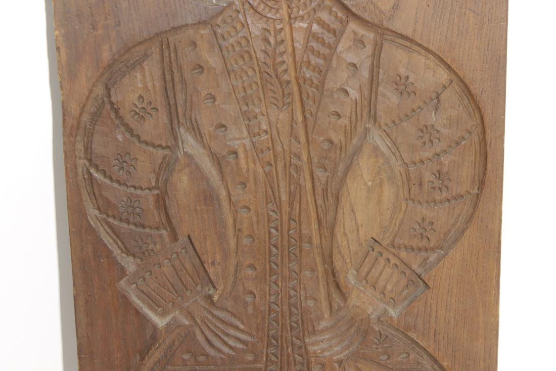 Carved Wooden Folk Plaque - 4