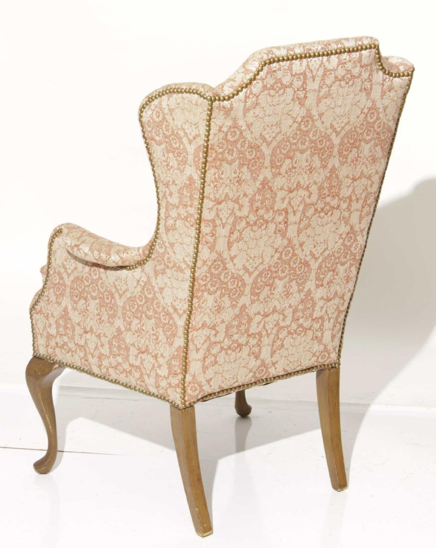 Diminutive Queen Anne Style Wing Chair - 10