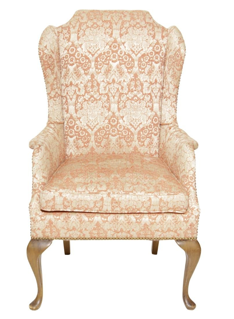 Diminutive Queen Anne Style Wing Chair