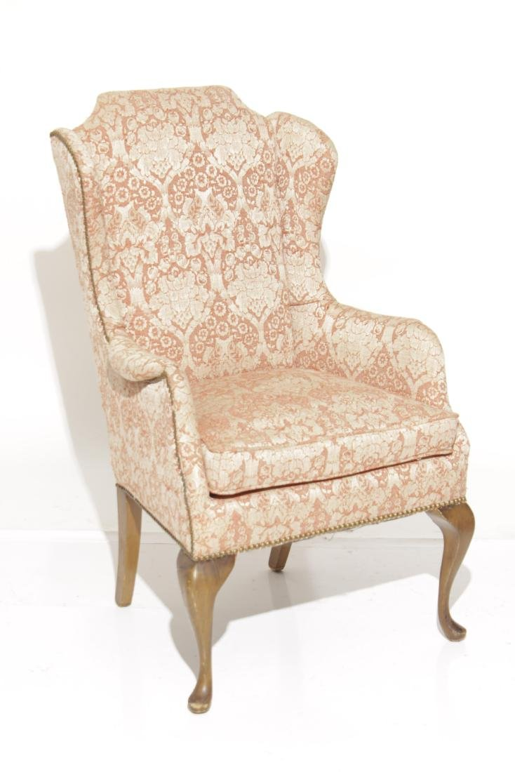Diminutive Queen Anne Style Wing Chair - 2