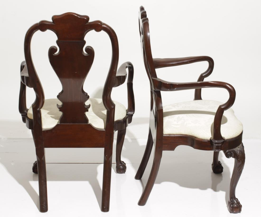 Pair Kindel Queen Anne Style Armchairs - 8