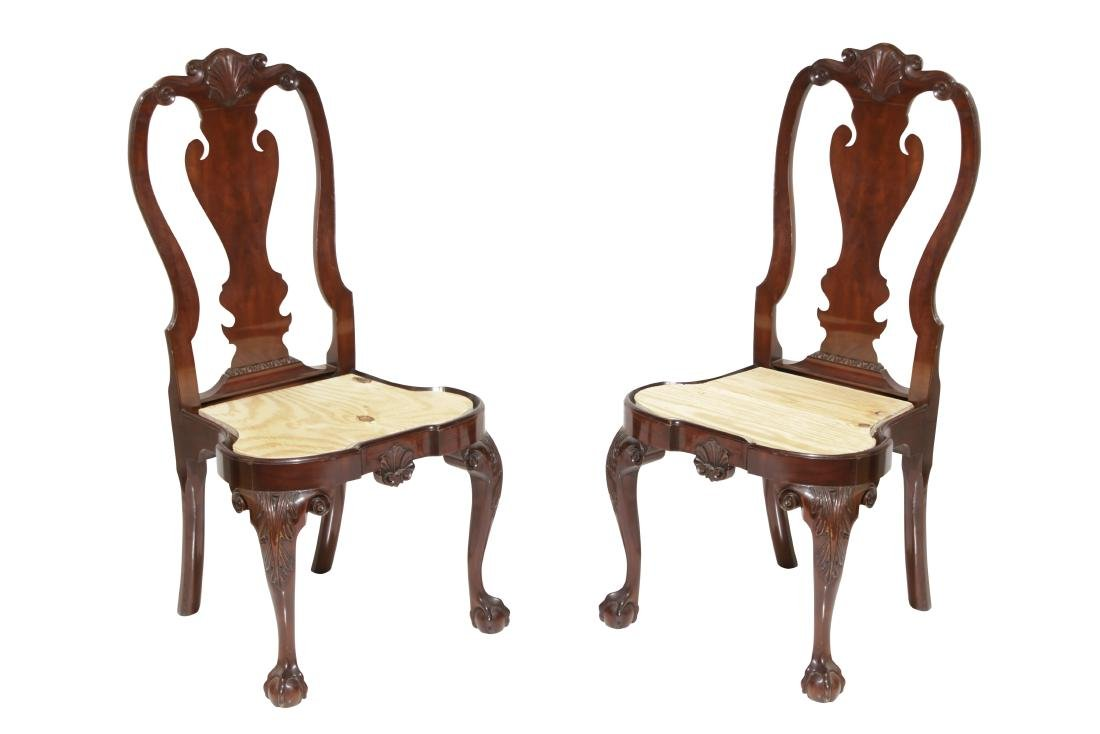 Pair Kindel Queen Anne Style Side chairs