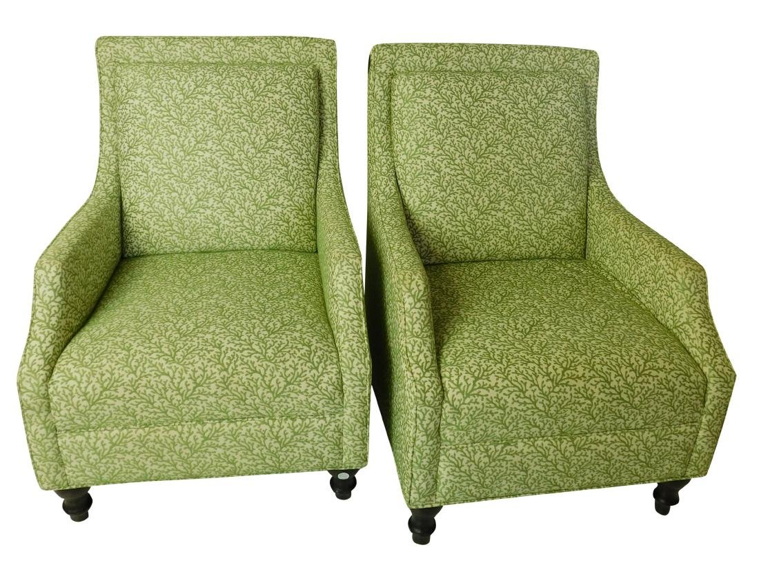 Pair Club Chairs from Breakers Hotel