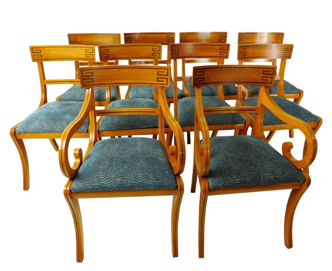 Set of 10 Regency Style Dining Chairs