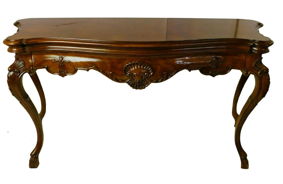 Karges Burlwood 19th Style Console