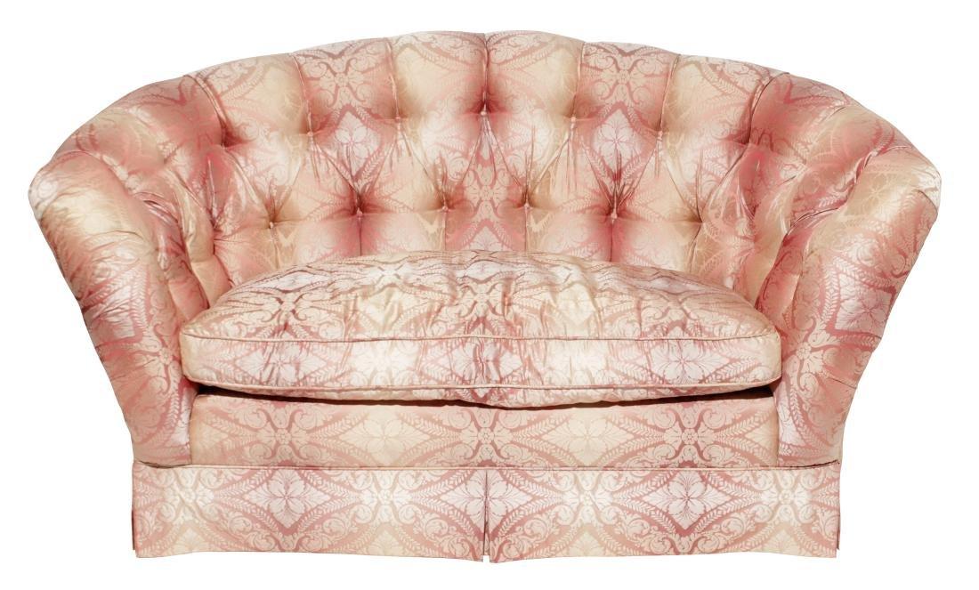 Decorator Upholstered Settee