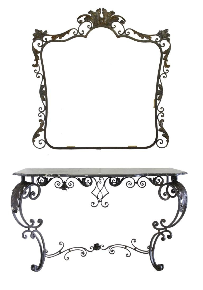 Louis XV Style Wrought Iron Console