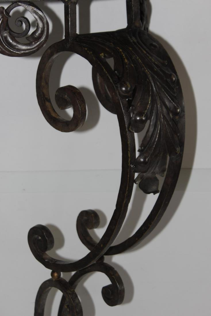 Louis XV Style Wrought Iron Console - 6