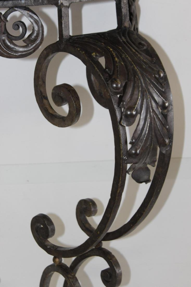Louis XV Style Wrought Iron Console - 7